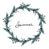 Guirnalda del tiempo de verano libre illustration