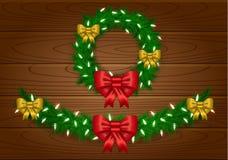 Guirnalda del vector de la Navidad ilustración del vector