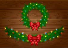 Guirnalda del vector de la Navidad Imagen de archivo