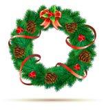 Guirnalda del verde de la Navidad Fotos de archivo