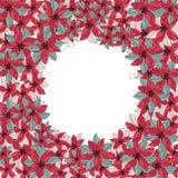 GUIRNALDA determinada de la FLOR del ejemplo del vector del color de la Feliz Navidad para la impresión de Scrapbooking y de Digi stock de ilustración