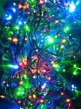 Guirnalda eléctrica, fondo abstracto de la Navidad Fotos de archivo libres de regalías