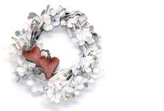 Guirnalda elegante de la Navidad con los corazones fotografía de archivo