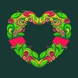 Guirnalda en forma de corazón Fotografía de archivo