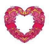 Guirnalda en forma de corazón Fotografía de archivo libre de regalías