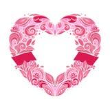 Guirnalda en forma de corazón Imagen de archivo
