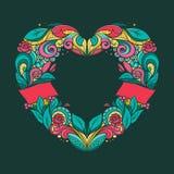 Guirnalda en forma de corazón Foto de archivo libre de regalías