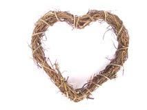 Guirnalda en forma de corazón del sauce Imagen de archivo libre de regalías