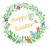Guirnalda feliz de Pascua Fotos de archivo libres de regalías
