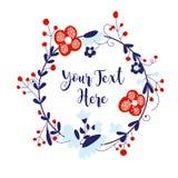 Guirnalda floral Fotos de archivo libres de regalías