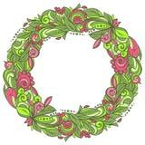 Guirnalda floral colorida Imágenes de archivo libres de regalías