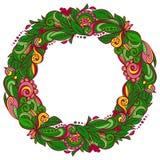Guirnalda floral colorida Fotografía de archivo libre de regalías
