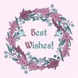 Guirnalda floral de color de malva libre illustration