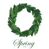 Guirnalda floral de hojas del lirio de los valles, guirnalda de la primavera Imagen de archivo libre de regalías