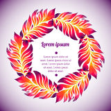 Guirnalda floral de la acuarela de la pluma colorida Foto de archivo libre de regalías