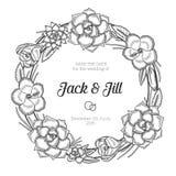 Guirnalda floral del vintage Invitación de la boda Fotos de archivo libres de regalías