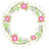 Guirnalda floral Ejemplo brillante del concepto de la primavera con las flores libre illustration