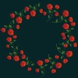 Guirnalda floral roja stock de ilustración