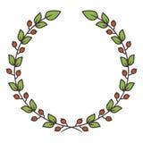 Guirnalda floral simple Ilustración del vector Imagen de archivo libre de regalías
