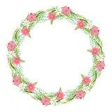 Guirnalda floral, wreath2 floral foto de archivo libre de regalías