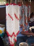 Guirnalda hecha estallar del arroz en el ramo Imagen de archivo libre de regalías