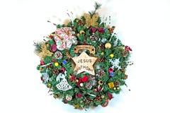 Guirnalda hecha a mano de la Navidad Fotos de archivo