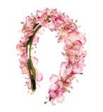Guirnalda hecha a mano de las flores en blanco Imágenes de archivo libres de regalías