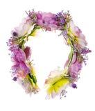 Guirnalda hecha a mano de las flores en blanco Fotos de archivo