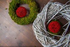 Guirnalda hermosa de la Feliz Navidad Imagen de archivo libre de regalías