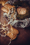 Guirnalda hermosa de la Feliz Navidad Fotos de archivo libres de regalías
