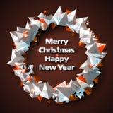 Guirnalda hermosa de la Navidad de pirámides triangulares estilizadas Imágenes de archivo libres de regalías