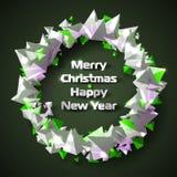 Guirnalda hermosa de la Navidad de pirámides triangulares estilizadas Fotos de archivo libres de regalías