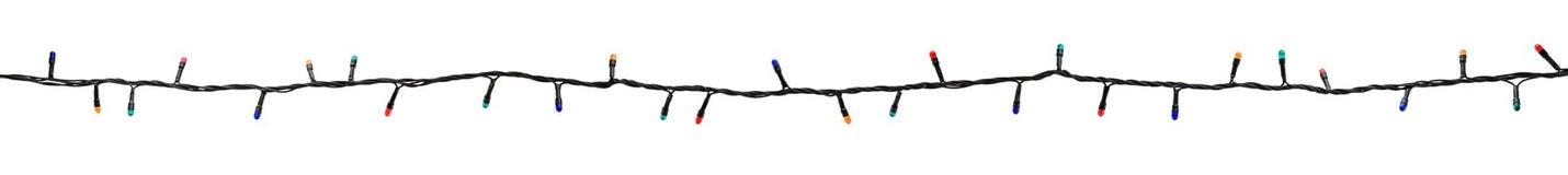 Guirnalda multicolora de la lámpara aislada en blanco Foto de archivo libre de regalías