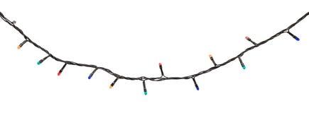 Guirnalda multicolora de la lámpara aislada en blanco Imagenes de archivo