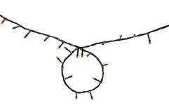 Guirnalda multicolora de la lámpara aislada en blanco Fotos de archivo libres de regalías