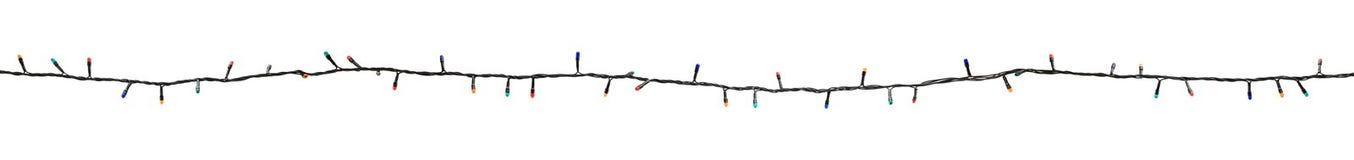 Guirnalda multicolora de la lámpara aislada en blanco Fotos de archivo