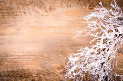 Guirnalda nevosa de la Navidad, decoración del Año Nuevo Imágenes de archivo libres de regalías