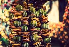 Guirnalda perfumada de Navidad de los frutos secos Fotos de archivo libres de regalías