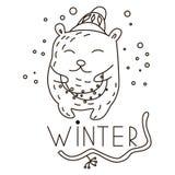 Guirnalda que lleva del oso lindo del garabato stock de ilustración