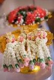 Guirnalda tailandesa, para la ceremonia de boda tailandesa Fotografía de archivo