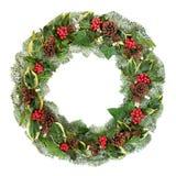 Guirnalda tradicional del invierno y de la Navidad imágenes de archivo libres de regalías