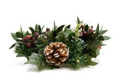 Guirnalda verde de la Navidad Fotos de archivo