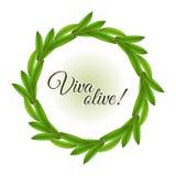 Guirnalda verde oliva Imagen de archivo