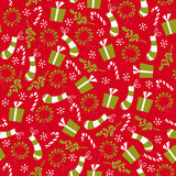 Guirnalda y media retras de la Navidad del estilo de la vendimia Fotos de archivo