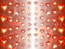 Guirnaldas de corazones ilustración del vector