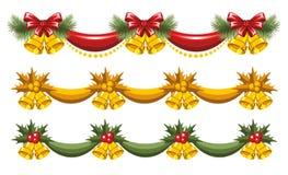 Guirnaldas de la Navidad Fotografía de archivo libre de regalías