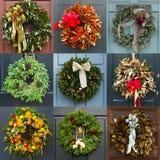 Guirnaldas de la Navidad Imágenes de archivo libres de regalías