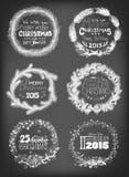 Guirnaldas de la Navidad ilustración del vector