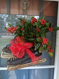 Guirnaldas de la Navidad del país foto de archivo