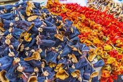 Guirnaldas de las verduras secadas, Antalya Foto de archivo libre de regalías
